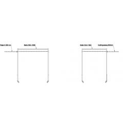 Løs koblingsstang til SGU svejseskærm incl. 2 løs lameller