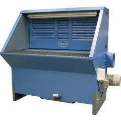 Inkl. ventilator, bagvæg, sider og filter m/manuel roto-rens